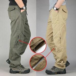 Image 2 - 30 40 yüksek kaliteli erkek kargo pantolon Baggy rahat erkekler taktik pantolon çok cep askeri genel erkek açık havada uzun pantolon ordu