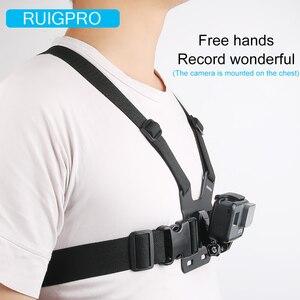 Image 5 - Ruigpro قابل للتعديل تسخير الصدر حزام جبل ل DJI osmo عمل كاميرا Gopro بطل 8 7 6 5 4 شاومي يي 4K h9 الذهاب برو 7 ملحق