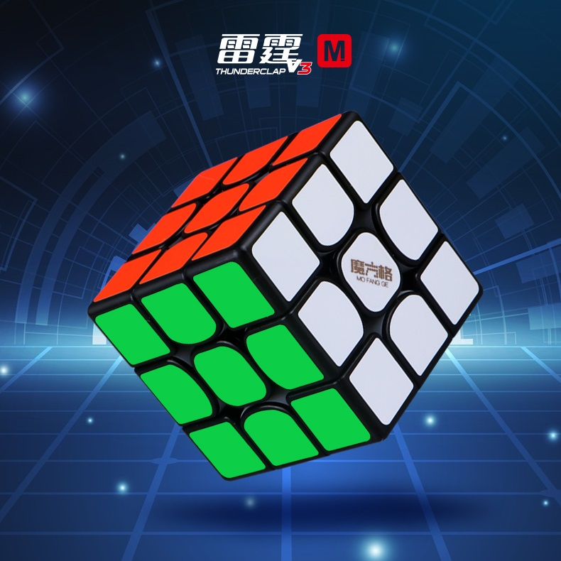 QiYi MoFangGe Thunderclap V3 M 3x3x3 Magnetic Magic Cube Regular Cubo Magico Professional 3x3 Speed Educational Toys For Kid
