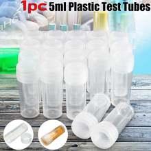 1 шт 5 мл Пластик флакон для образцов Тесты трубки Мини бутылки