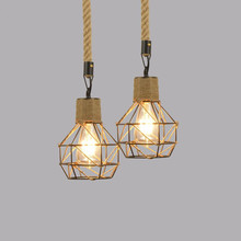 Retro Cafe Bar Pendant Lamp Adjustable Rope Light for Home Dining Room Exhibition Hall цена 2017