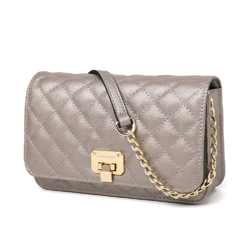 2019 Hot Luxury Brand woman handbag Leather woman  Rhombus  Shoulder Small Square lykj-yx