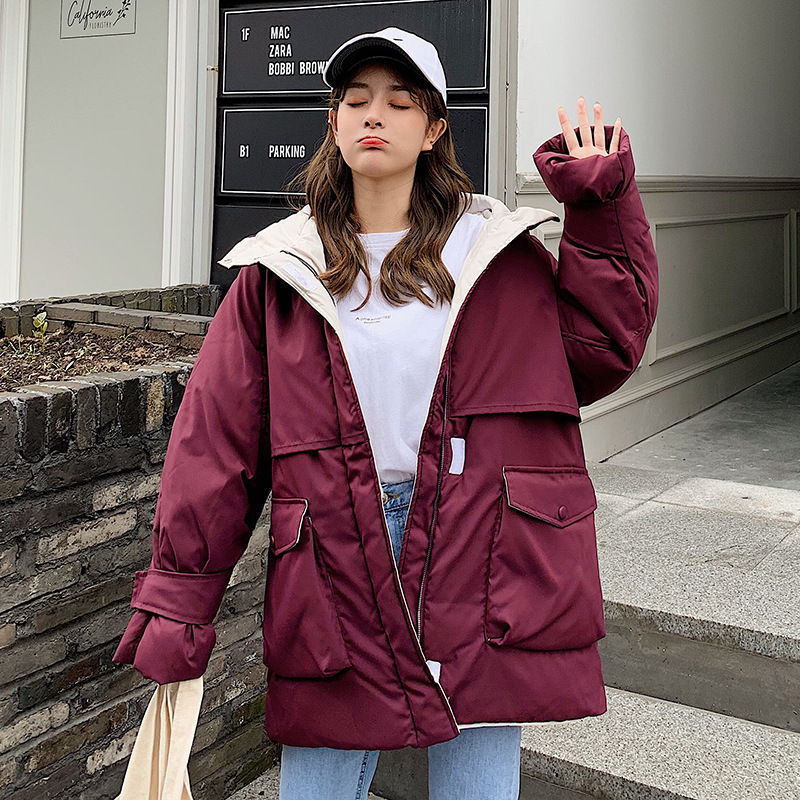 Photo Shoot 19 Workwear Cotton-padded Clothes Women's New Style Down Jacket Cotton-padded Clothes Oversize Korean-style INS Dong