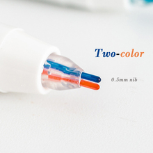 6 Colors Cute Mild liner Pens Highlighter Dual Double Headed Fluorescent Pen Drawing Marker Pen Stationery school office supply 6pcs lumina color pen highlighter marker mild fluorescent liner drawing highlighting painting office accessories school f968