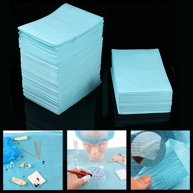 125Pcs Disposable Tattoo Clean Pad Waterproof Medical Paper Tablecloths Mat Double Layer Sheets Tattoo Accessories 45*33cm