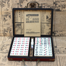 Chinese Numbered Mahjong Set 144 Tiles Mah-Jong Set Portable Chinese Toy with Box Mahjong Set Chinese Antique Game Family Games
