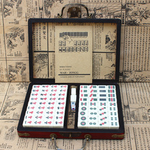 Mahjong-Set Tiles Chinese-Toy Family Games Portable 144 with Box Numbered