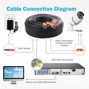 Image 5 - 50M BNC טלוויזיה במעגל סגור קואקסיאלי כבל CCTV אבזר BNC וידאו כוח לבן כבל אנלוגי AHD טלוויזיה במעגל סגור מעקב מצלמה ערכת DVR מעקב