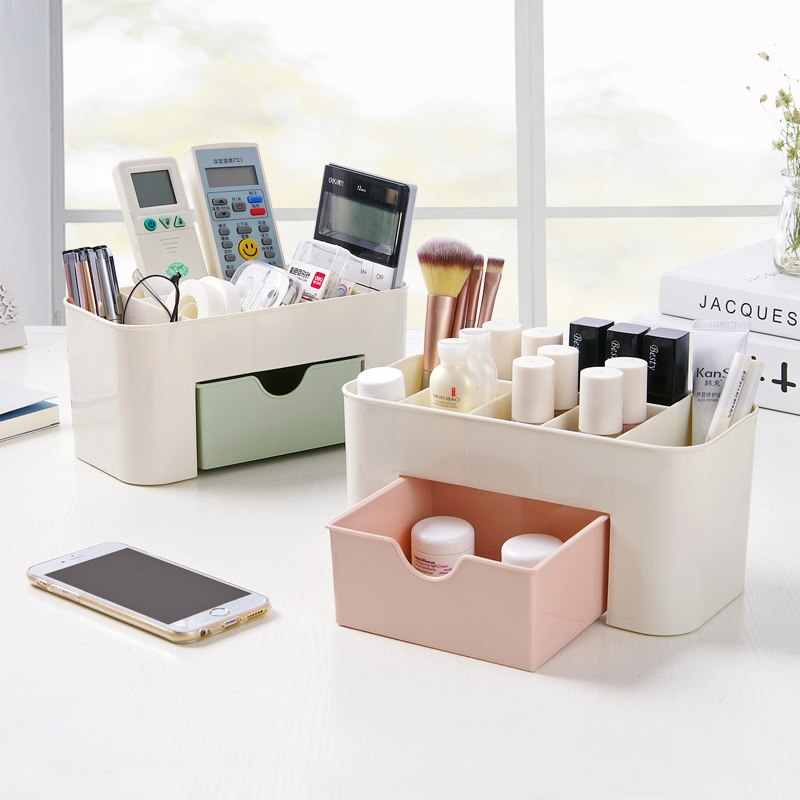 Plastic Make Organisatoren Opbergdoos Cosmetische Drawers Sieraden Display Box Case Desktop Make Up Container Dozen Organizer