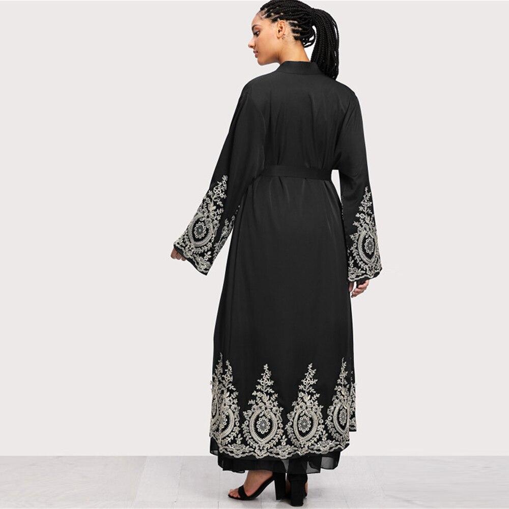 Lace Abaya Kimono Cardigan Muslim Hijab Dress Turkish Saudi Arabia African Dresses For Women Kaftan Dubai Caftan Islam Clothing