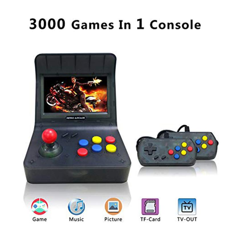 cheapest Mini Arcade Video Game Console Moonlight Treasure Game Wireless Controller Built-in 3100 2D and 60 3D Games EU Plug