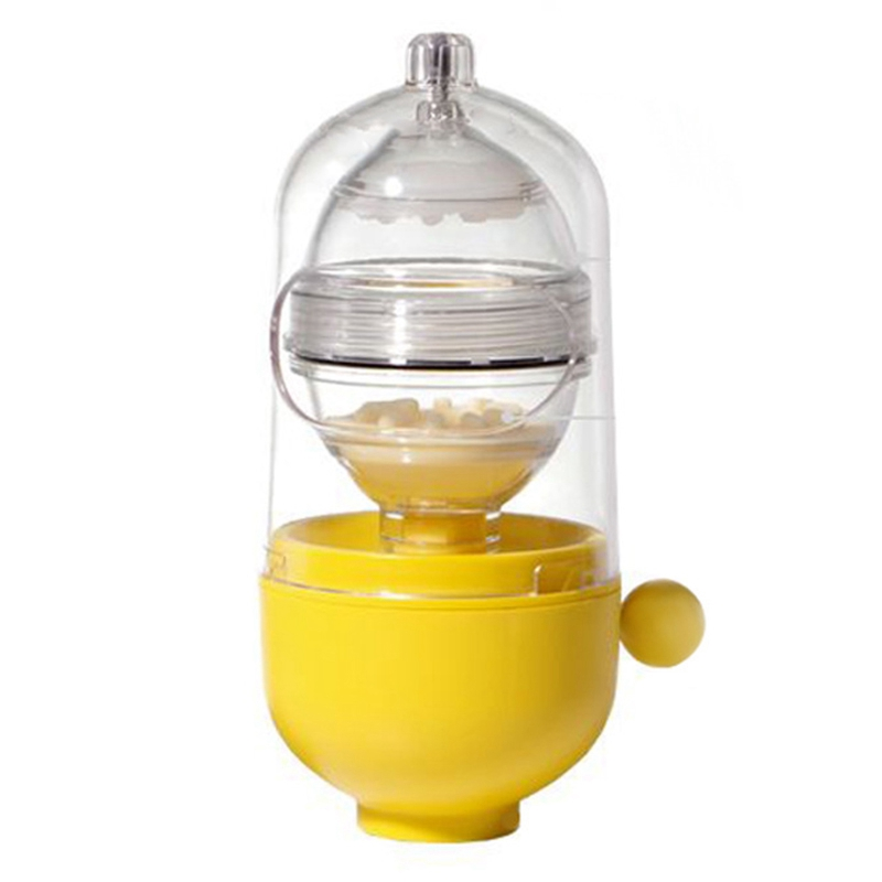 Egg Pudding Maker Egg Scrambler Shaker Whisk In Shell Hand Powered Golden Egg Maker