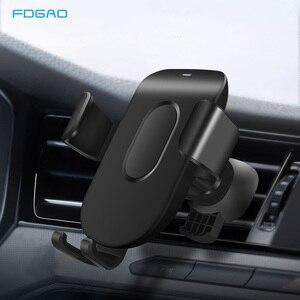 Image 1 - FDGAO Auto Montieren Qi Drahtlose Ladegerät Für iPhone 11 Pro XS Max X XR 8 Schnelle Drahtlose Lade Auto Telefon halter Für Samsung S9 S10