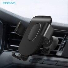 FDGAO Auto Mount Qi Draadloze Oplader Voor iPhone 11 Pro XS Max X XR 8 Snelle Draadloze Opladen Auto Telefoon houder Voor Samsung S9 S10