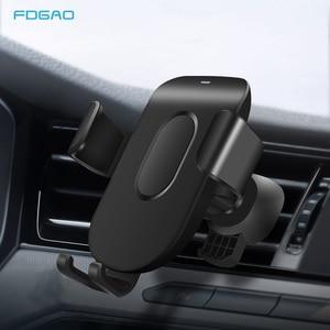 Image 1 - FDGAO Auto Mount Qi Draadloze Oplader Voor iPhone 11 Pro XS Max X XR 8 Snelle Draadloze Opladen Auto Telefoon houder Voor Samsung S9 S10