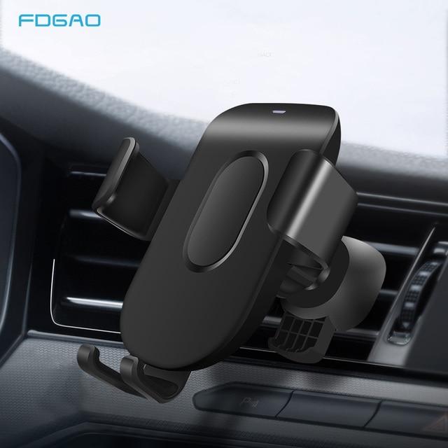 FDGAO araç tutucu Qi kablosuz iphone şarj cihazı 11 Pro XS Max X XR 8 hızlı kablosuz araba şarjı telefon tutucu Samsung S9 S10