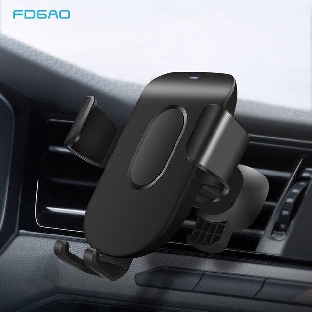 FDGAO רכב הר צ י אלחוטי מטען עבור iPhone 11 פרו XS מקסימום X XR 8 מהיר אלחוטי טעינת רכב טלפון מחזיק עבור Samsung S9 S10
