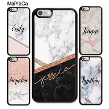 MaiYaCa Marble Personalised Name Mobile Phone Cases For iPho