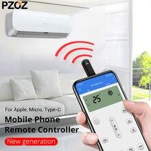 PZOZ инфракрасный пульт дистанционного управления ик порт для iphone samsung LG xiaomi usb type c кондиционер ТВ Универсальный умный ИК-контроллер адаптер