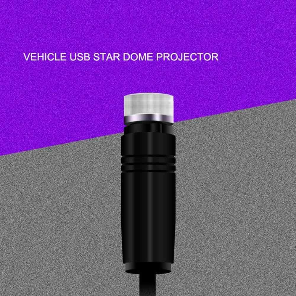 Đèn LED Xe Hơi Ô Tô Mái Ngôi Sao Đêm Chiếu Bầu Không Khí Galaxy Đèn USB Đèn Trang Trí Có Thể Điều Chỉnh Nhiều Hiệu Ứng Ánh Sáng