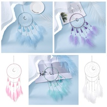 Dream Catcher without Lights Feather Ornament Home Car Wall Wind Chimes Hanging Children Girls Room Decoration Crafts Gifts
