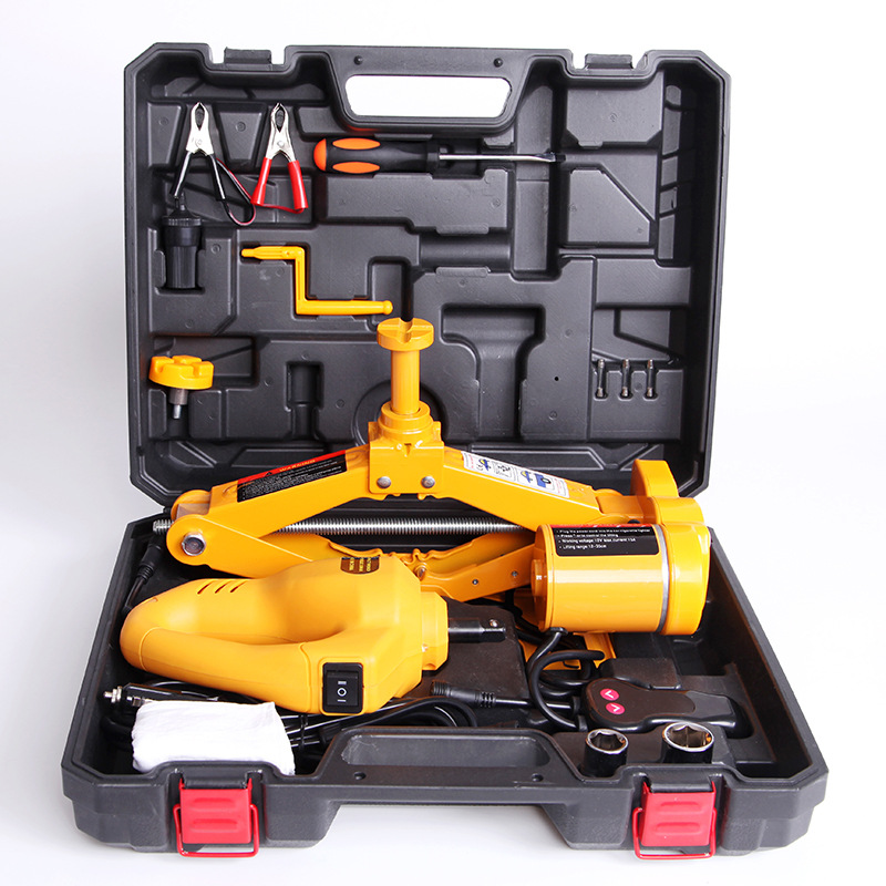 12V 2T Electric Jack Car Jack Tire Changing Tool +hydraulic  Electric Spanner