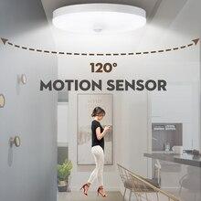 СВЕТОДИОДНЫЙ Светильник-ночник с датчиком движения, лампа 12 Вт, 18 Вт, потолочный светильник для лестниц, коридоров, светодиодный ночник с датчиком, Автоматическое включение/выключение, 220 В