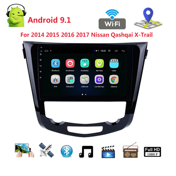 Android 9.1 Quad Core 10.1 Inch Car Radio GPS Navi Multimedia Player 2 din For 2014 2015 2016 2017 Nissan QashQai X-Trail wifi image