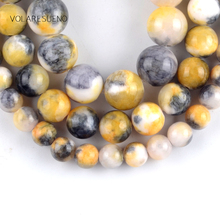 Natural Yellow Persian Jades Stone Round Loose Beads For Jewelry Making 6-10mm Spacer Beads Fit Diy Bracelet Necklace 15''Strand natural fuchsia persian jades stone round loose beads for jewelry making 6 10mm spacer beads fit diy bracelet necklace 15