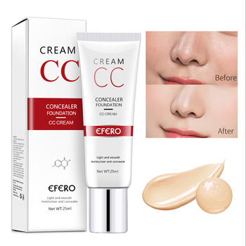 EFERO makijaż baza korektor krem cc trwały makijaż pokrywa baza podkład twarzy Contouring fundacja korektor krem kosmetyczne TSLM1 tanie i dobre opinie Wszystkich rodzajów skóry 25ml W pełnym rozmiarze Concealer Make Up Krem nawilżający Kontrola oleju Blokada przeciwsłoneczna