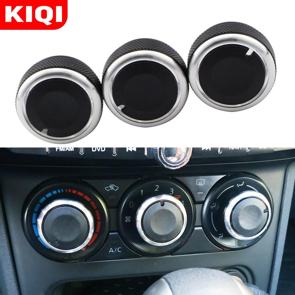 KIQI مقبض هواء للسيارة مناسب لسيارة Honda City 2008 2009 2010 2011 2012 2013 2014 أزرار مفتاح مكيف الهواء ملحقات مقابض التيار المتردد