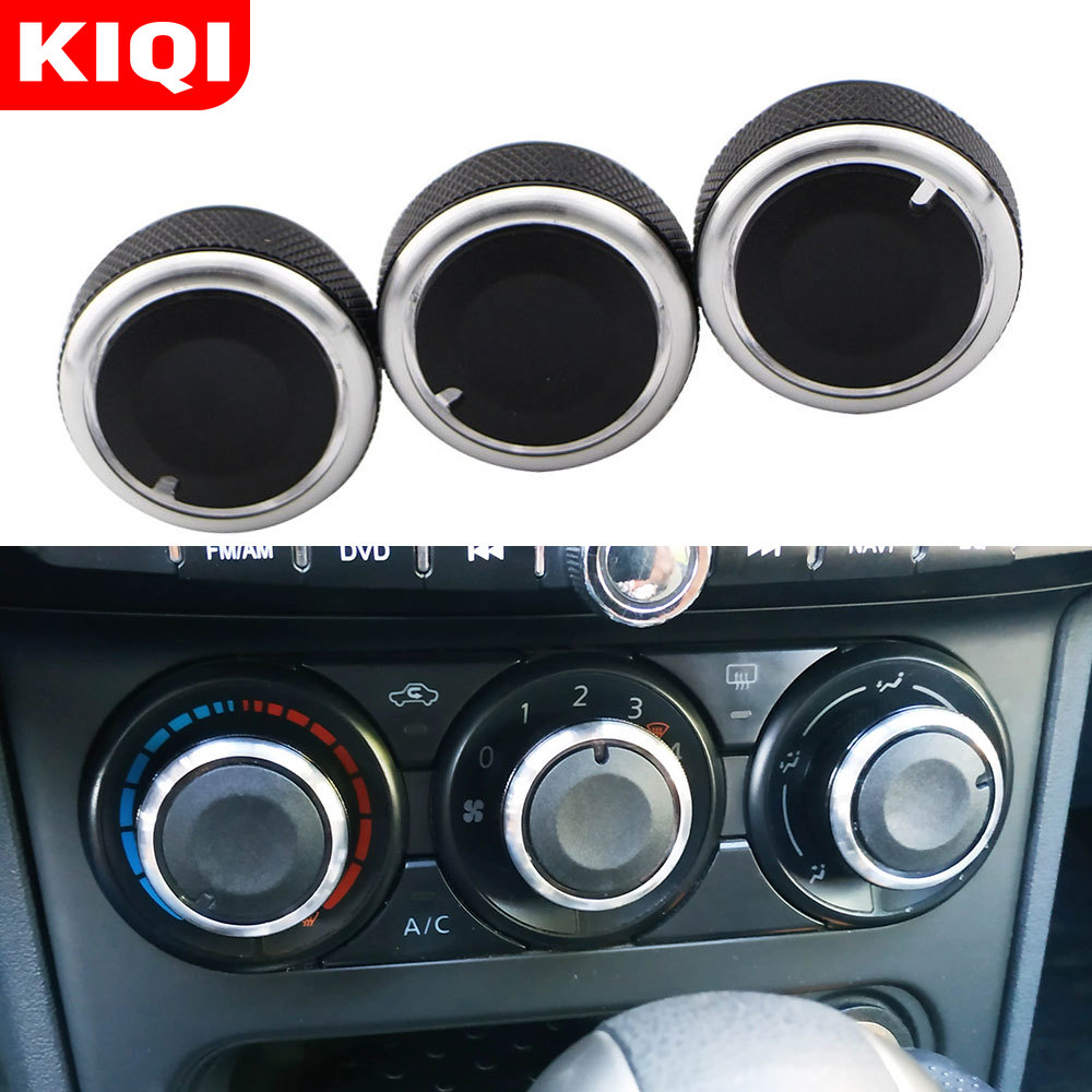 KIQI Car Air Knob Fit For Honda City 2008 2009 2010 2011 2012 2013 2014 Air Conditioner Switch Buttons AC Knobs Accessories