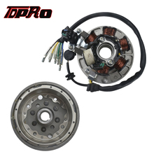 TDPRO Motorcycle 6 Coil Ignition Magneto Stator Plate Flywheel For Scooter Dirt Pit Bike 50cc 70 110cc 125cc 140cc Lifan Engines high performance magneto stator rotor flywheel kit for motorcycle lifan 110cc 125cc 140cc 150cc ssr sdg pitbike