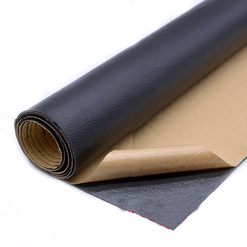 20x120cm Self Adhesion Litchi Faux Synthetic Leather Patches  Multicolor PU Sofa Hole Repair Car Sticker Tables Bed Decoration