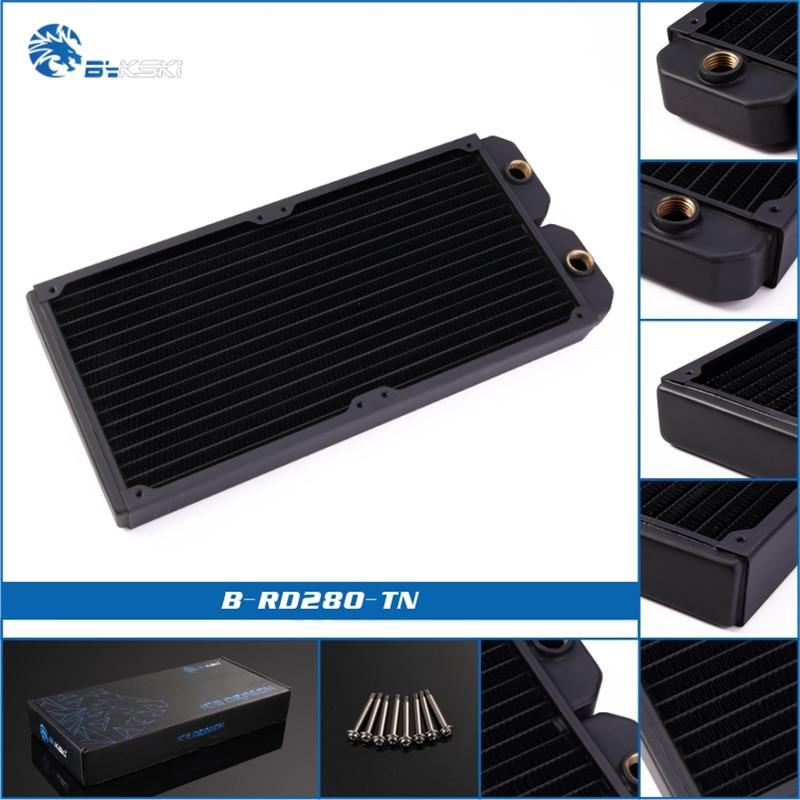 Bykski B-RD140/280/420/480-TN черный полный Медь & Латунь радиатора 140/280/420/480 мм водяного охлаждения радиатора для ПК теплоотводы