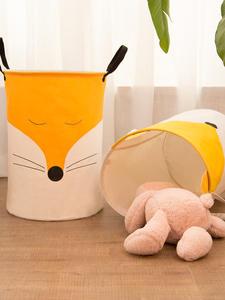 Laundry-Basket Toy-Storage Orgnizer-Bin Washing Baby Picnic Large Cotton Smile Make-Me