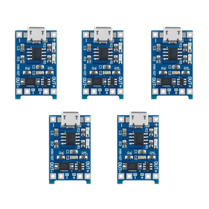 5PCS 5V 1A Micro USB 18650 Lithium Battery Charging Board Charger Module+Protection Dual Functions TP4056()