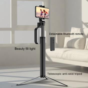 170cm Bluetooth Selfie Stick Tripod Monopod with Remote Aluminium Ring Light Palo Selfie Fill Lighting for iPhone XS 8 7 6s plus