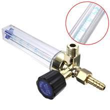 Medidor de flujo de Gas de CO2 medidor de flujo de 1-25L 7mm Barb Argon 1/4PT 0,15 MPA medidor de flujo de Gas argón AR/CO2 regulador de soldadura caliente para soldadura Mig