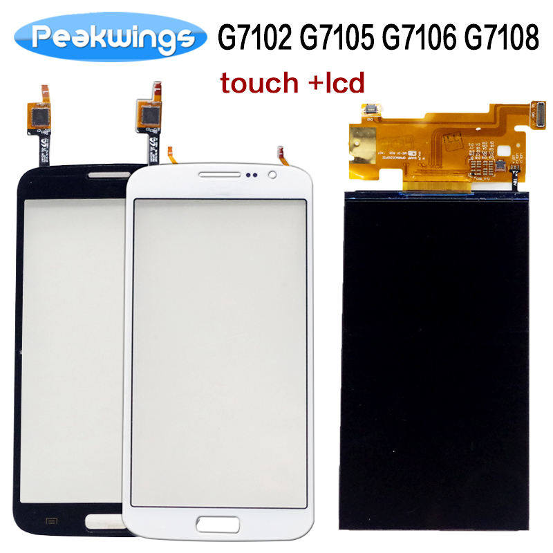 Tested LCD Display For Samsung Galaxy Grand 2 Duos G7102 G7105 G7106 G7108 LCD Display With Touch Screen Separately
