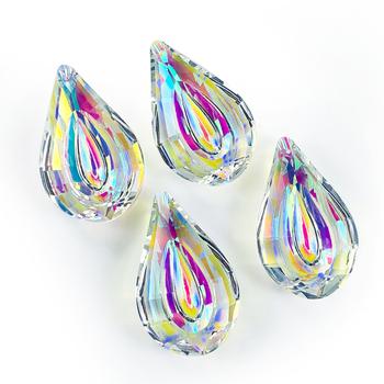 AB-Color wiszące kryształy pryzmat Suncatcher zawieszki kryształy do żyrandola części lampy DIY dekoracja ślubna do domu akcesoria 75mm tanie i dobre opinie 45mm Y046