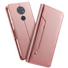 עבור נוקיה 7.2 מקרה עור ארנק Flip Stand כיסוי עם מראה וכרטיס חריצי מעטפת עבור Nokia 3.1 C נוקיה 2.2 מקרה עמיד הלם
