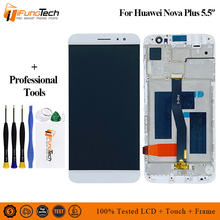 Black/White/Gold For Huawei Nova Plus LCD Display + Touch Screen Digitizer Assembly Replacement With Frame with Free TOOLS white black gold for huawei ascend mate s lcd display screen touch digiziter assembly with frame free shipping