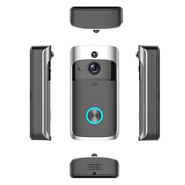 Wsdcam timbre inteligente Cámara Wifi intercomunicador de llamadas inalámbrico Ojo de vídeo para pisos timbre de puerta para teléfono cámaras de seguridad del hogar