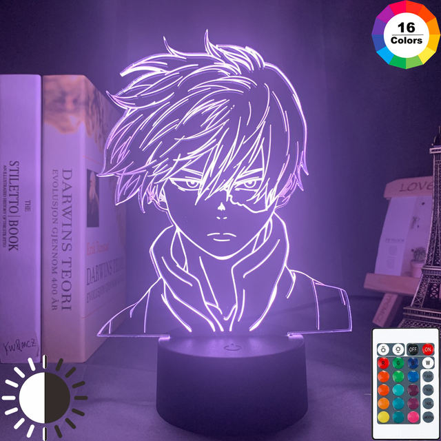16 COLOR WITH REMOTE SHOTO TODOROKI  3D LED LAMP