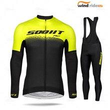 2020 conjunto de camisa de ciclismo dos homens manga longa roupas scottful pro equipe mtb maillot ropa ciclismo bib calças primavera/outono