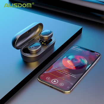 AUSDOM TW01S Wireless Earphones Bluetooth 5.0 Earphone TWS HIFI Mini In-ear Sports Running Headset Support iOS/Android