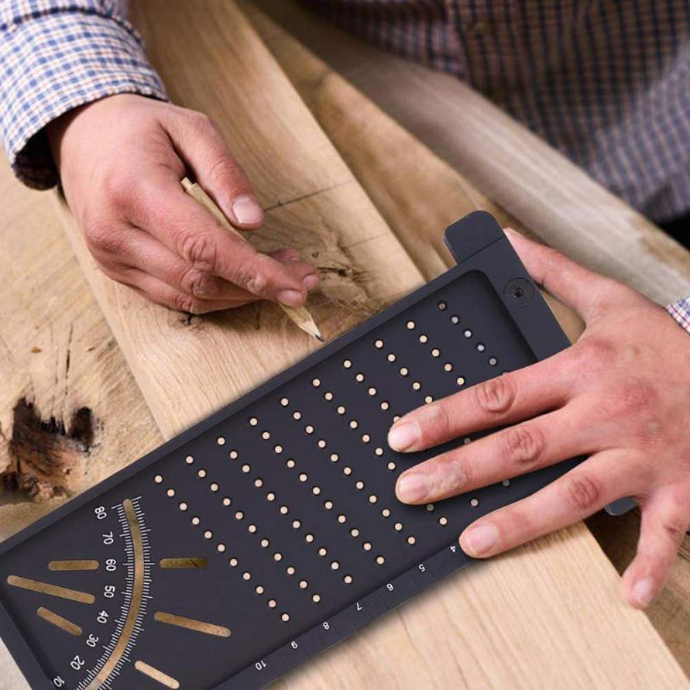 Plastic Precision Woodworking Scribe Mark Line Gauge T Type Cross Out Ruler Carpenter Measurement Measuring Tool