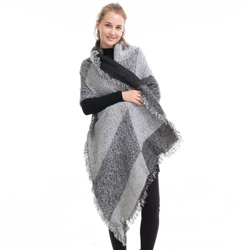Cashmere Blanket Scarf Women Poncho Winter Wool Stoles Pashmina Shawl Female Long For Warm