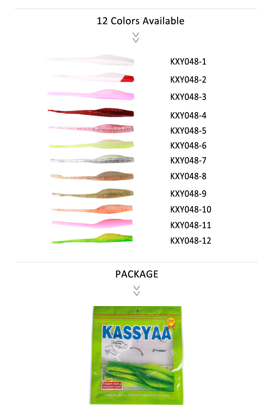 KASSTAA T Split Tail Fishing Lure Soft 125mm 6g Silicone Wobblers Swimbaits Double Color Bass Bait For Fishing (3)